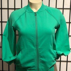 Lululemon Om me home Green jacket size 4